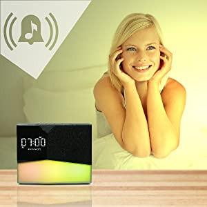 WITTI - BEDDI Glow | App Enabled Intelligent Alarm Clock with Wake-up Light, Bluetooth Speaker and USB Charger 10