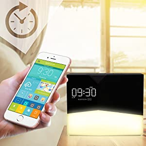 WITTI - BEDDI Glow | App Enabled Intelligent Alarm Clock with Wake-up Light, Bluetooth Speaker and USB Charger 11
