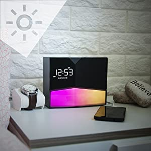 WITTI - BEDDI Glow | App Enabled Intelligent Alarm Clock with Wake-up Light, Bluetooth Speaker and USB Charger 9