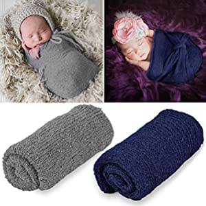 Yesbaby Baby Photo Props Fur Quilt Blanket Ripple Wrap Set 23.6x27.6 inch Newborn Photography Wrap Mat Photo Backdrop Rugs