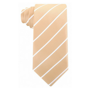 striped necktie gold