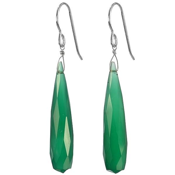 ASHANTI Green Jasper Natural Gemstone Sterling Silver Handmade Earrings