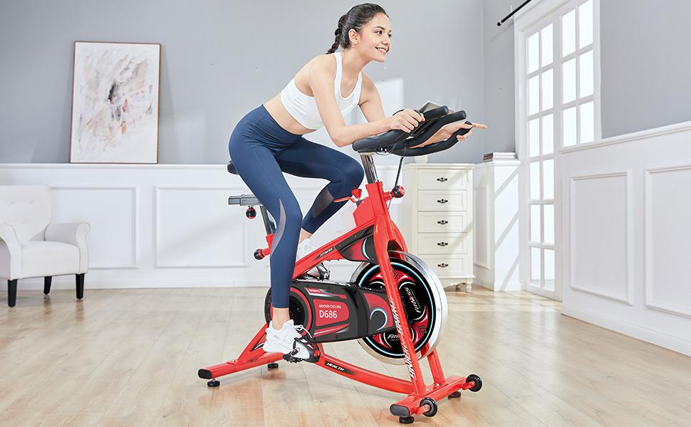 exercise bike  pooboo indoor exercise bike
