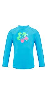 girls long sleeve rash guard shirt