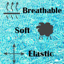 stretchy swimwear