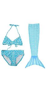 mermaid swimsuit set for girls