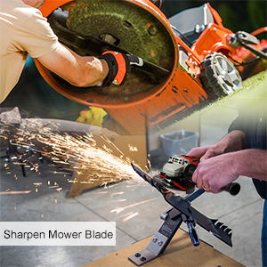 mower blade angle grinder