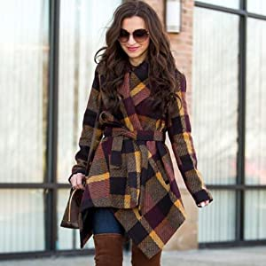Drfoytg 2018 Hot!Women Leaves Print Coat Hooded Warm Outwear Button Down Oversized Overcoat Pocket Winter