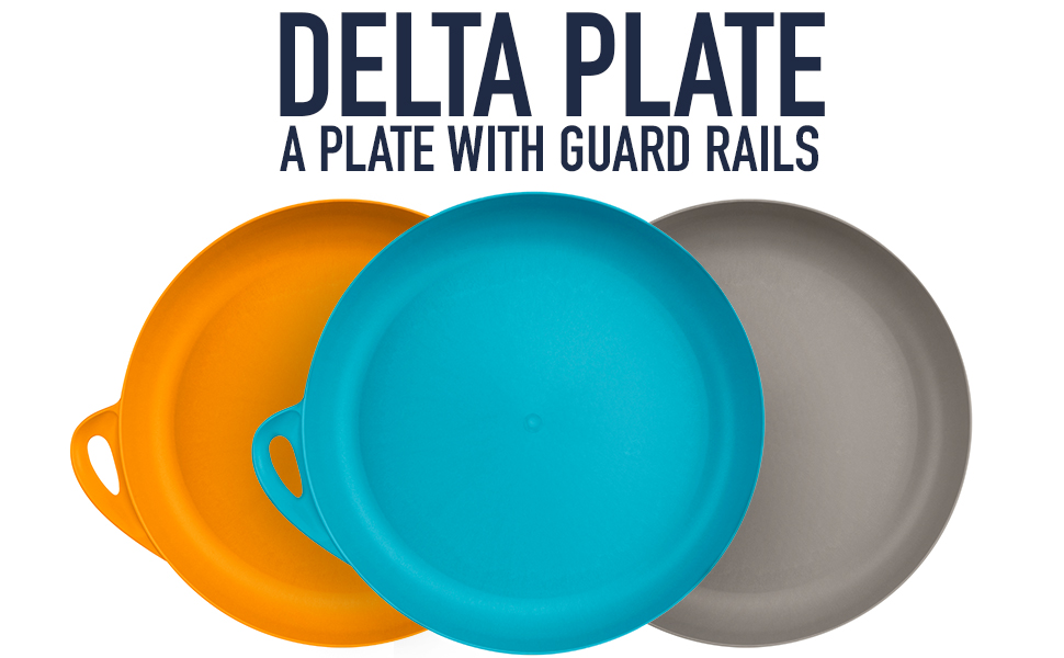 Delta Plate: a plate with guard rails.