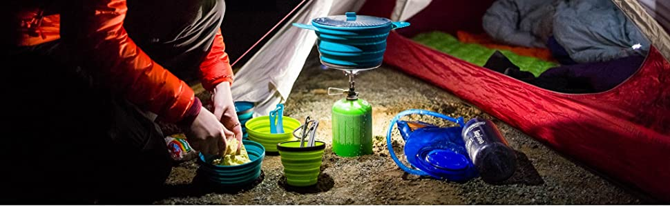 Camping with the X-series dishware.