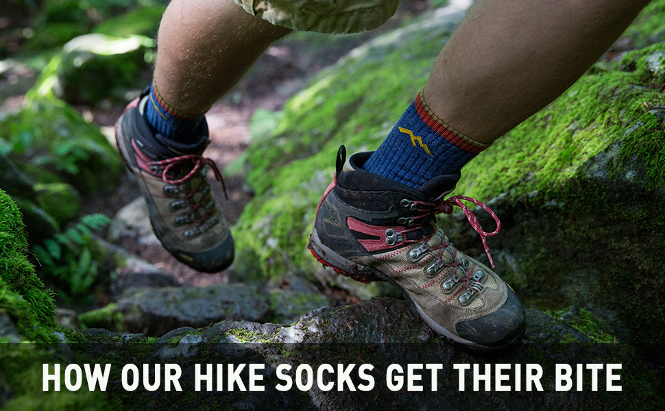 Darn Tough Hiker Micro Crew Sock in Action on Hiker Lifestyle