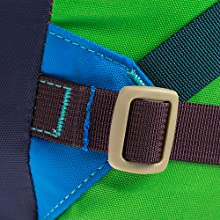 Buckle and stitch detail for del dia color choices