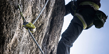 Ohm while climbing