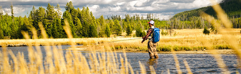 Fishing with the flow drypack