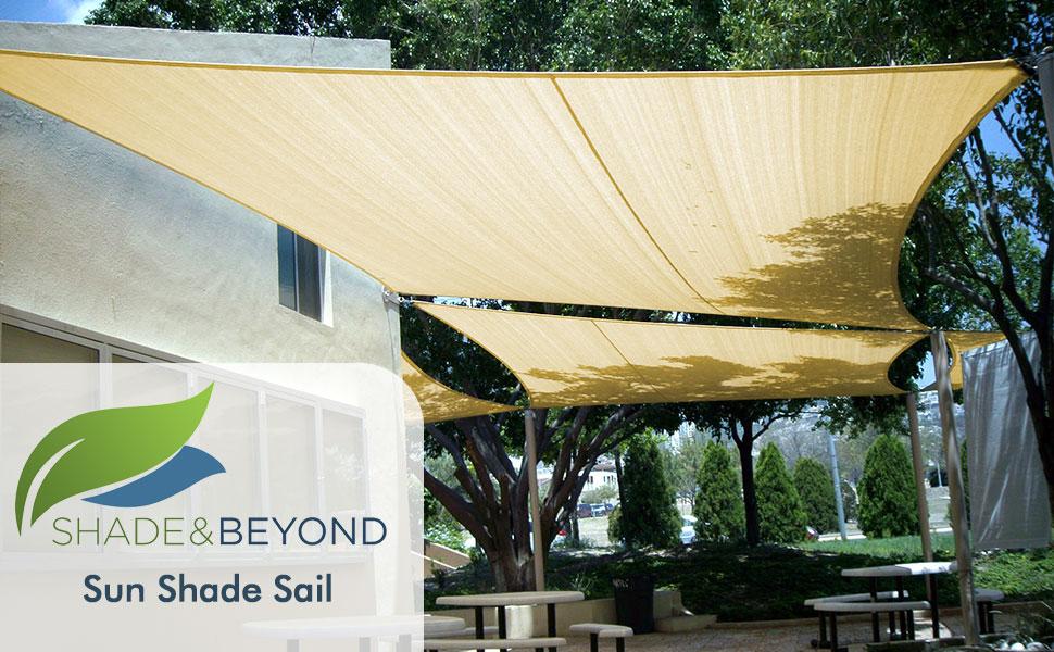 Amazon Com Shade Beyond 8 X 10 Sun Shade Sail Canopy Rectangle