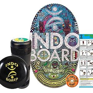 INDO BOARD Balance Board, Fitness Trainer, Balance And Core Strength Trainer, Bongo Board Trainer