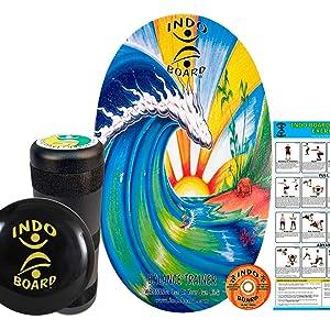 Bamboo Beach INDO BOARD Original Training Package, Balance Board, Balance Trainer, Bongo Board