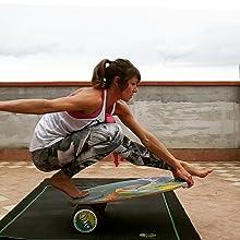 Balance board training, roller board trainer, INDO BOARD balance trainer, balance fitness, bongo