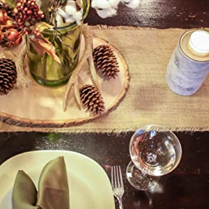 Burlap Wedding Table Runner