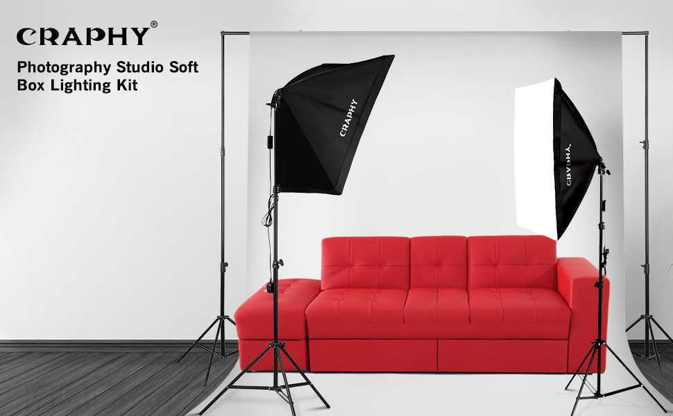 Craphy the first generation soft box continuous lighting kit craphys portable photography