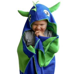 Dragon dinosaur blanket hood hooded boys girls