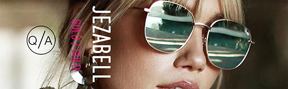 63f35c6a6219f Amazon.com  Quay Australia JEZABELL Women s Sunglasses Minimal Round ...
