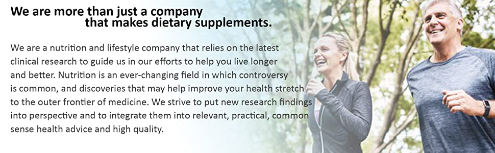 We are more than just a company that makes dietary supplements