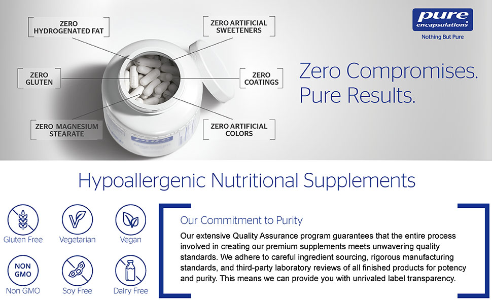 Pure Encapsulations - Thyroid Support Complex - Hypoallergenic Supplement with Herbs...
