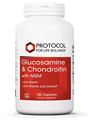 Protocol for Life Balance Glucosamine & Chondroitin with MSM Support Strong Bones Joints Cartilage