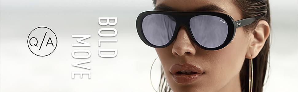 9215059514 Amazon.com  Quay Australia BOLD MOVE Women s Sunglasses Shield ...