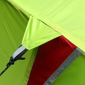 Reflective guylines and webbing on tent corners & Amazon.com : Luxe Tempo 3.3LB 1 Person Backpacking Tent Solo with ...