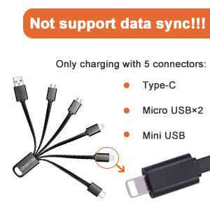 Multi Quick Charge Cable Swimming Happy Fish Kids Friend Multi 3 in 1 Retractable Micro USB Cable Fast Charger with Micro USB//Type C Compatible with Cell Phones Tablets and More