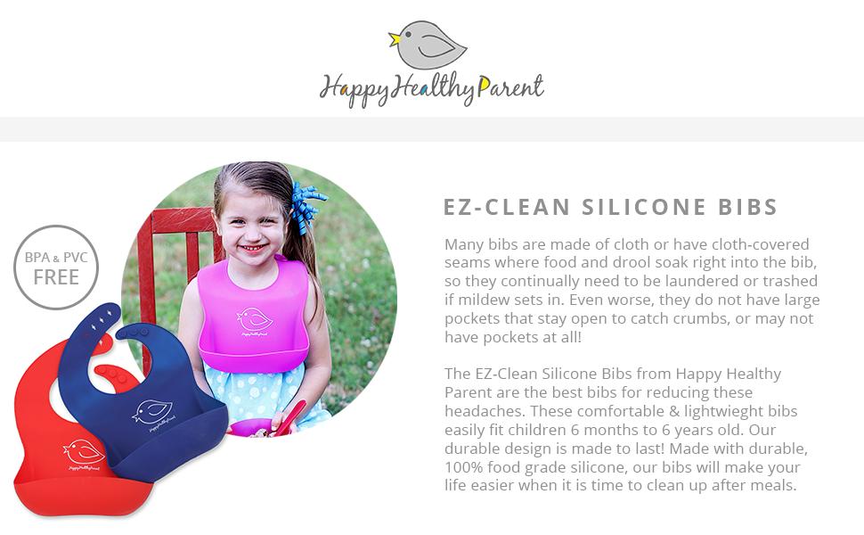 Amazon Com Waterproof Silicone Bib Easily Wipes Clean Comfortable