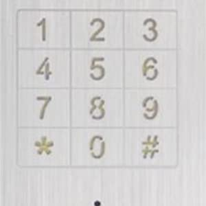 Touch metal keypad