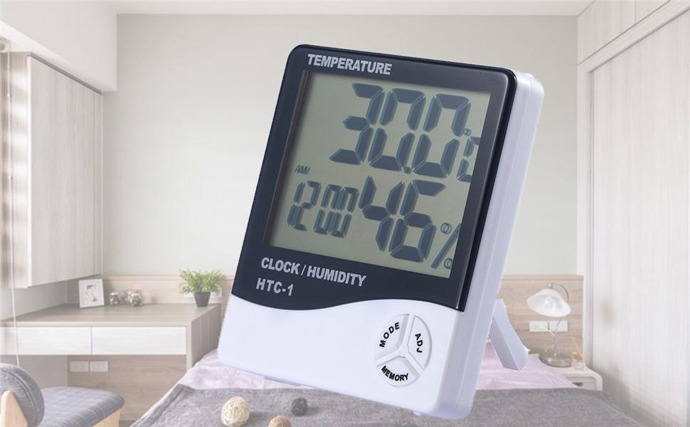 Amazon.com: Termómetro digital higrómetro medidor de ...