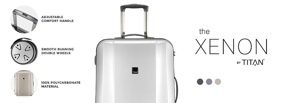 Luggage Champagne TITAN Luggage XENON Hardshell Suitcase 3 Piece Set XENON/_Champagne SM Leather Inc Parent Code