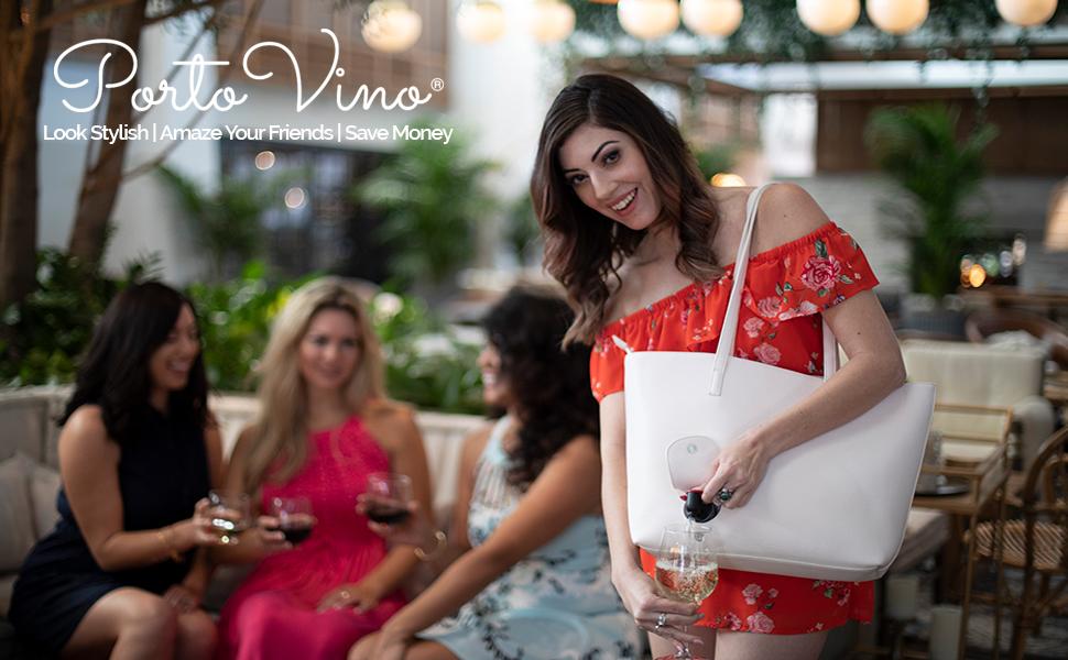 Portovino wine purse, wine totes, insulated wine bag, beverage bag, wine lovers gift, beach tote