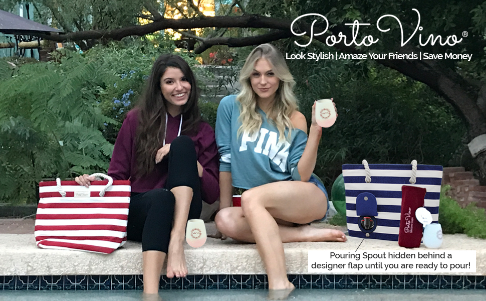 Portovino wine wallet, wine bags, insulated wine bag, beverage bag, gift for wine lovers, beach bag