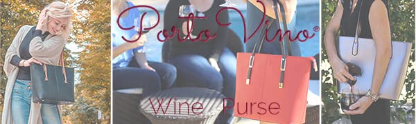 portovino wine purse secret zippered insulated pockets fashionable with function designer pour on go