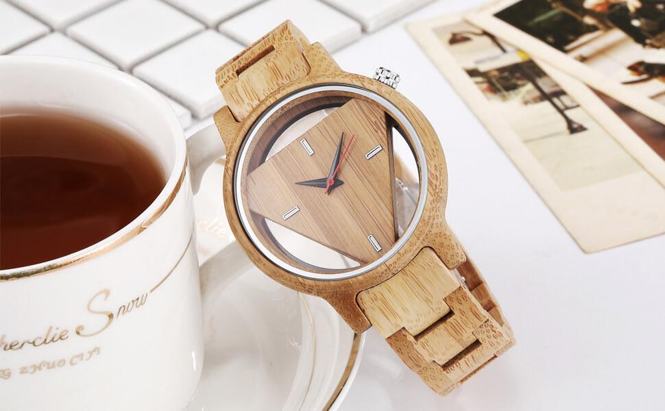 triangle wood watch