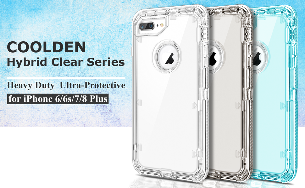 5e71df6c46c1 Coolden Case for iPhone 8 Plus Case iPhone 7 Plus Case Hybrid Clear ...