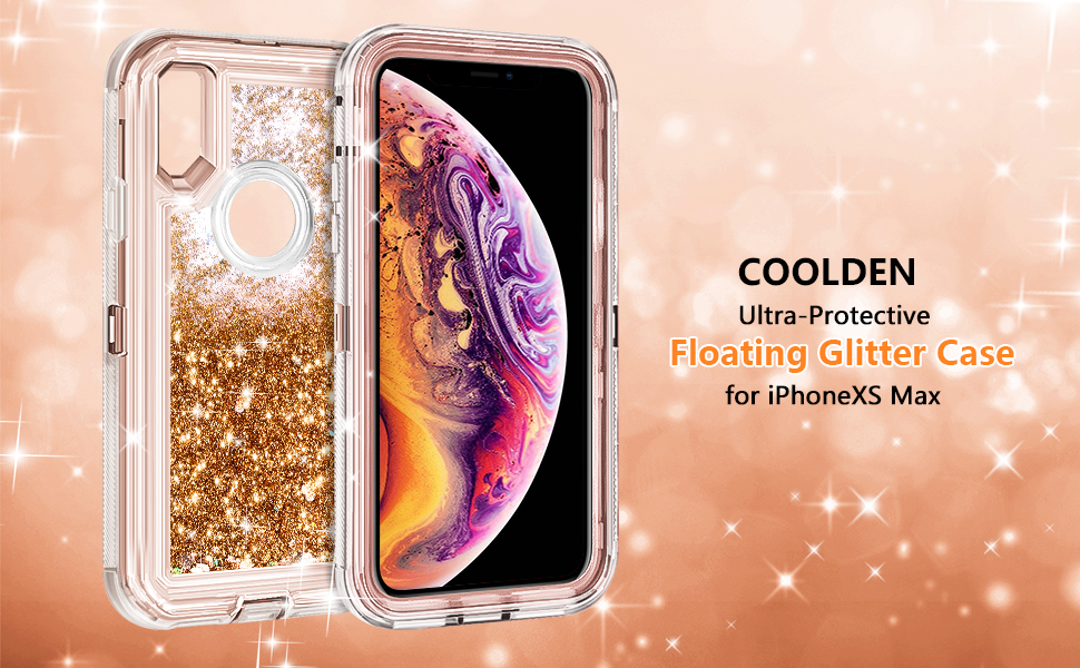 Amazon.com  Coolden Case for iPhone Xs MAX Case Protective Glitter ... cbcf2485e