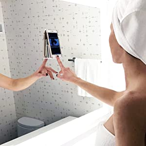 mirrors glass windows mount iPhone device surface ledge