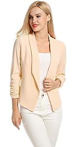 women 3/4 sleeve blazer for work or casual wear