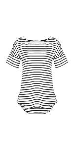 women summer striped t shirt tops