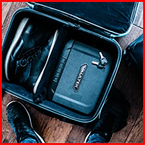 An excellent travel safe to keep your valuables secure for on-the-go protection.