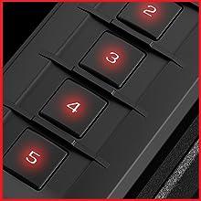 5 digit backlit numeric keypad via proximity sensor.
