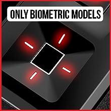Biometric scanner available. However, only for biometric models like the Vaultek SL20i.