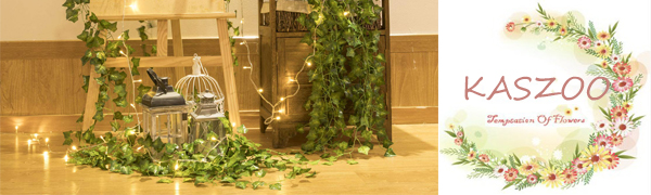 KASZOO Artificial Ivy With Led String Light