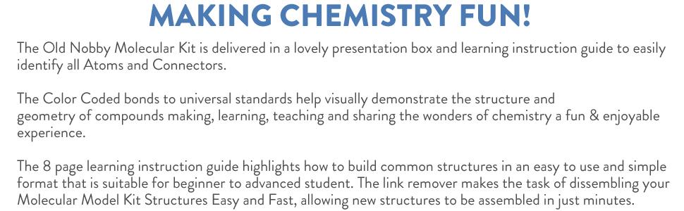 molecular kit chemistry fun
